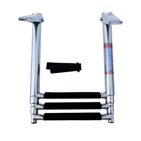 Telescopic Ladder Parts : Step s telescoping marine boat ladder upper platform