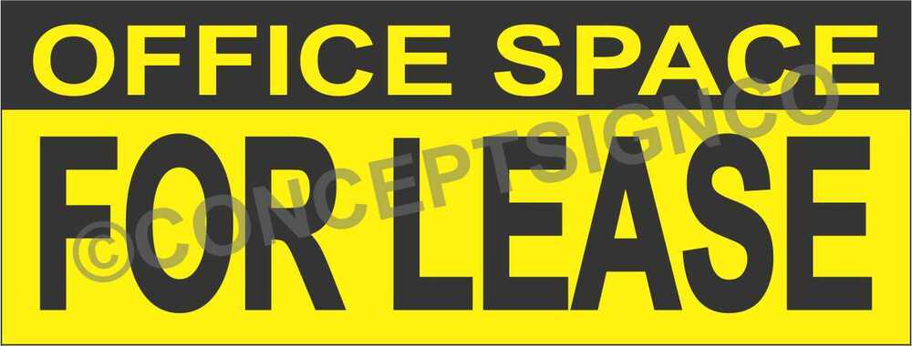 4 39 x10 39 office space for lease banner outdoor sign xl real estate business rent ebay - Small business spaces for rent set ...