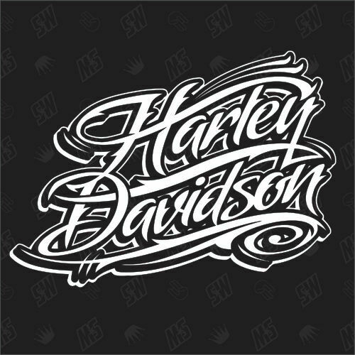 harley davidson schriftzug version 1 fan sticker. Black Bedroom Furniture Sets. Home Design Ideas