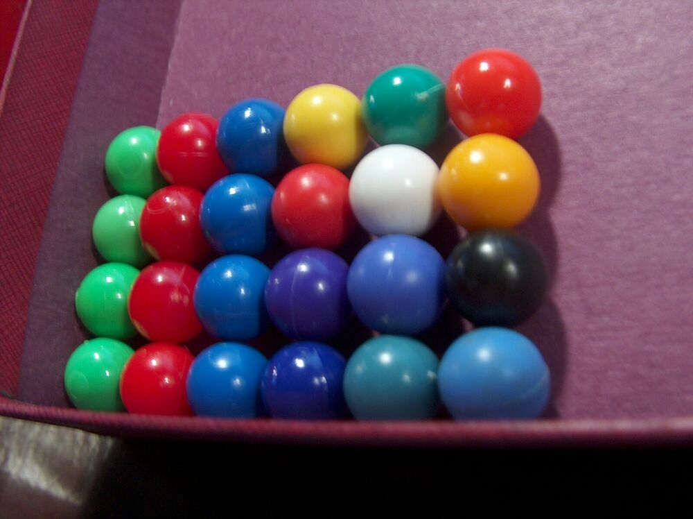 Colored Marbles For Games : Color replacement plastic hollow marbles marble set