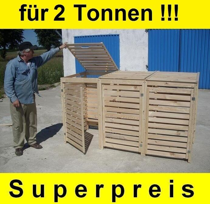 m lltonnen box m llbox f r 2 tonnen m llcontainer massivholz neu top angebot ebay. Black Bedroom Furniture Sets. Home Design Ideas