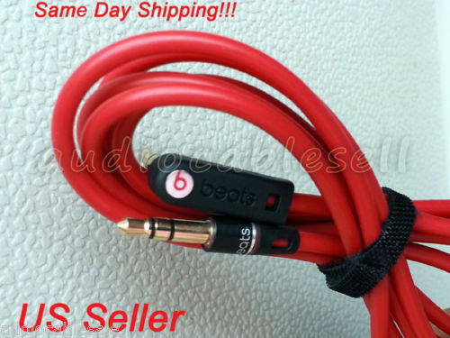 Original Beats Audio Cable Cord Wire 3 5mm L Jack For Dre Pro  Studio Solo