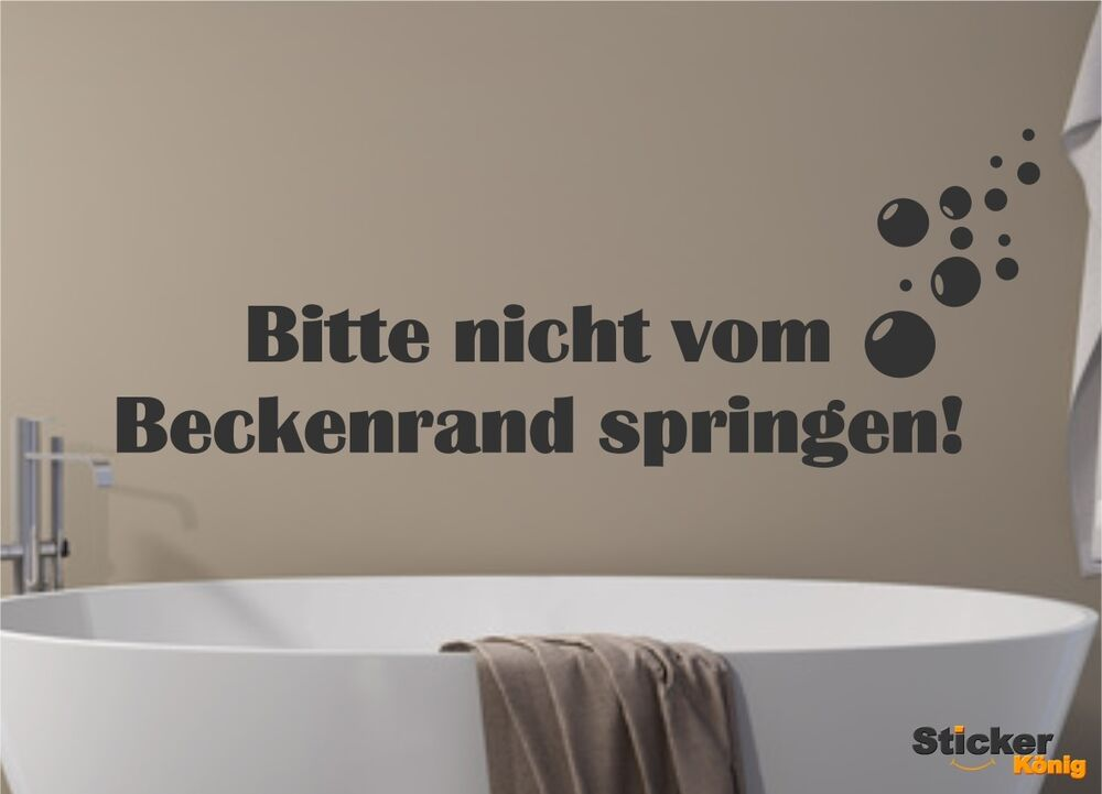 wandtattoo bitte nicht vom beckenrand springen 20 blubberblasen wandaufkleber ebay. Black Bedroom Furniture Sets. Home Design Ideas
