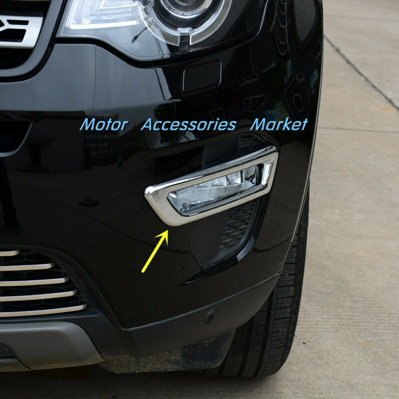 New Chrome Front Fog Light Cover Trim For Land Rover