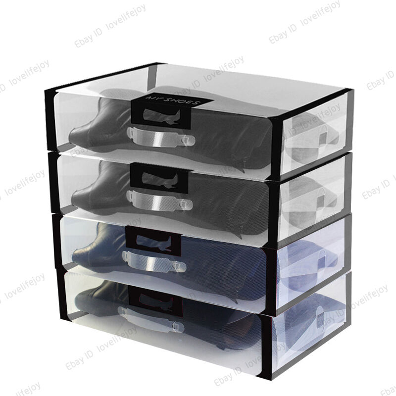 long boots storage cover organizer clear shoe boxes plastic case us4 5 13 5 new ebay. Black Bedroom Furniture Sets. Home Design Ideas