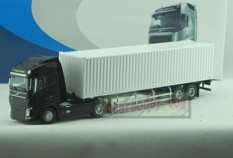 Toy Tractor Trailer Trucks : Scale volvo globetrotter fh black tractor trailer