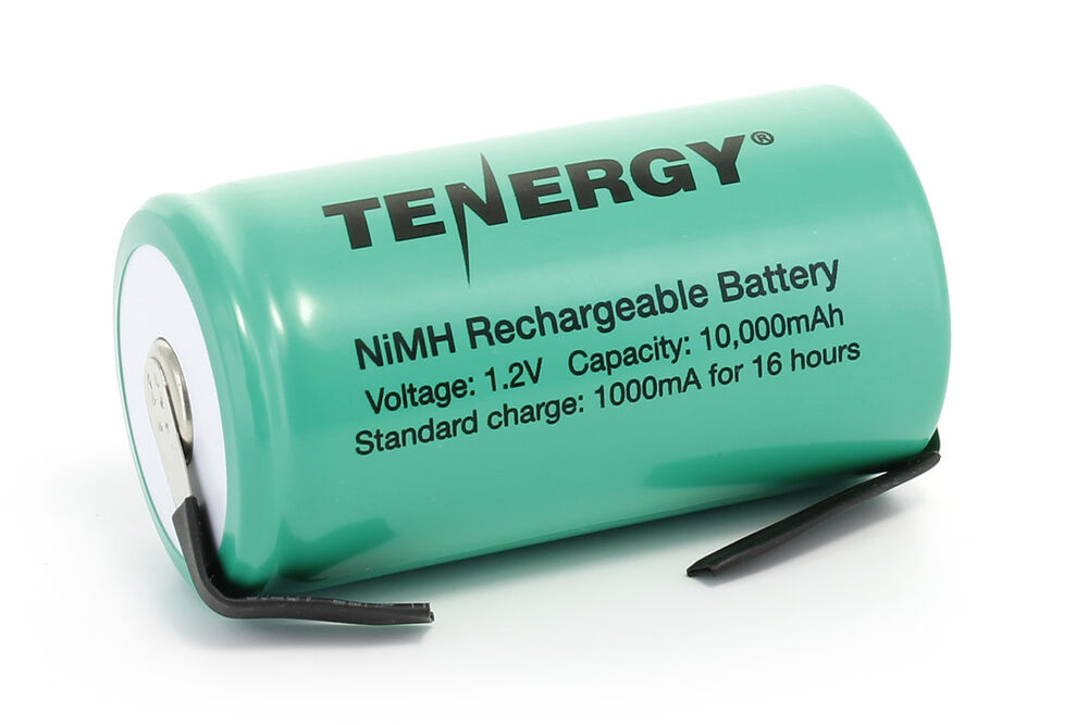tenergy d size 10000mah nimh flat top rechargeable battery. Black Bedroom Furniture Sets. Home Design Ideas