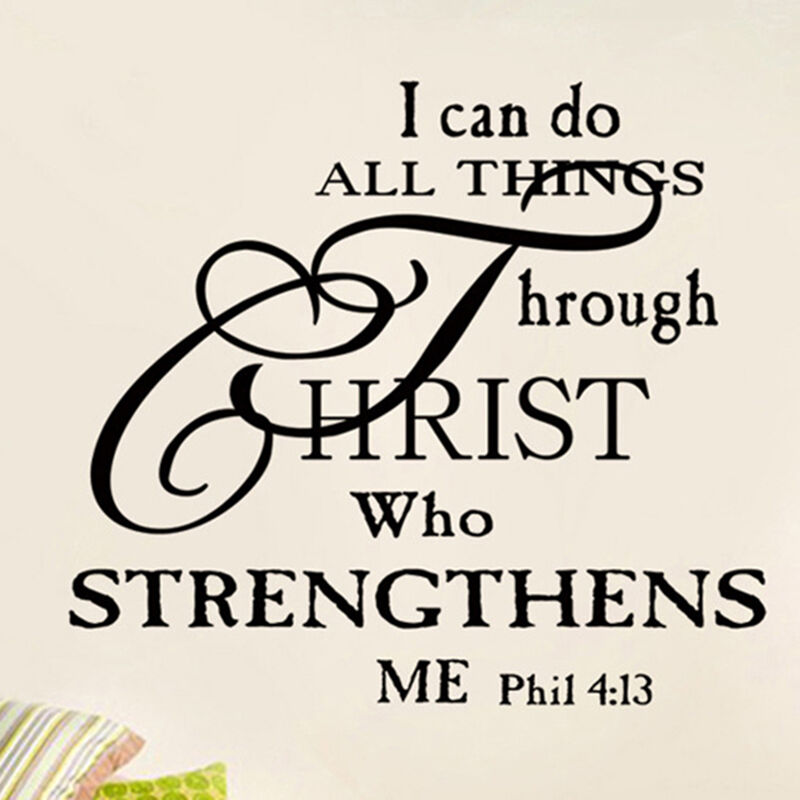 I Can Do All Things Through Christ Quote Vinyl Wall