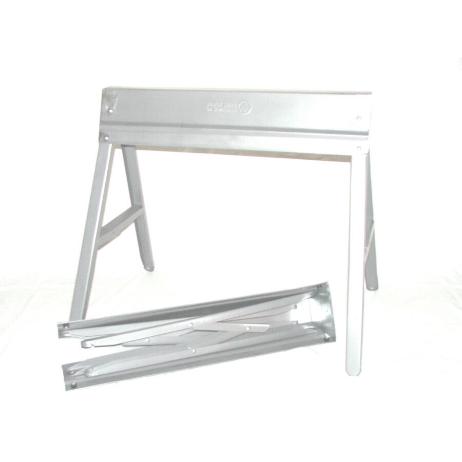 Portable Galvanized Folding Steel Work Sawhorse Jobsite Speciatly Tool Saw Horse : eBay