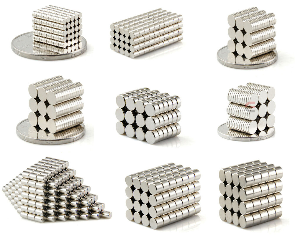 50 1000pc tiny neodymium disc magnets 2mm 3mm 4mm 5mm 6mm for Small magnets for crafts