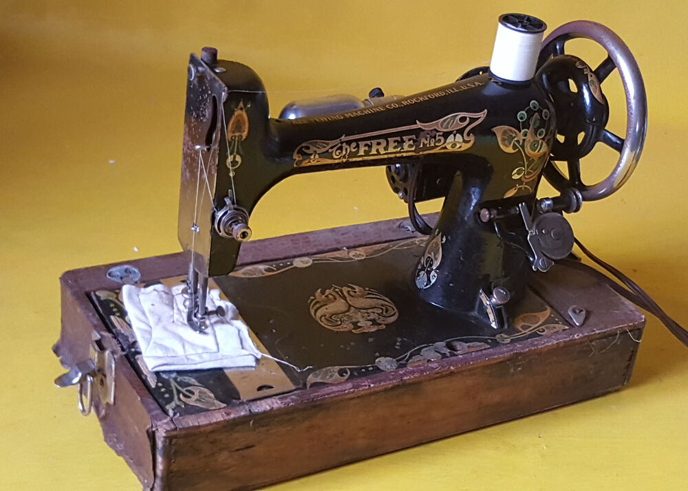 antique free no 5 sewing machine ebay. Black Bedroom Furniture Sets. Home Design Ideas