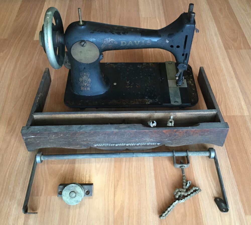 antique singer sewing machine cabinet parts