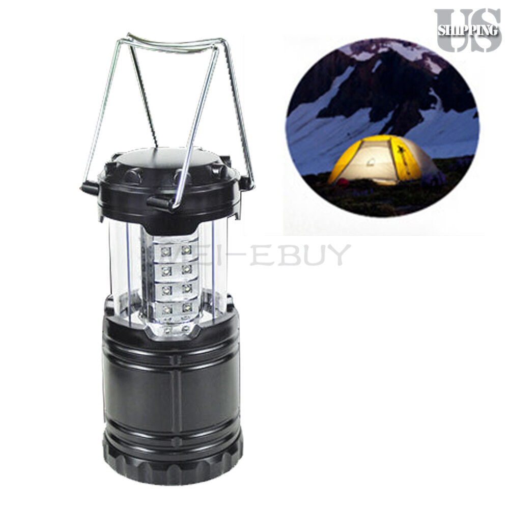 ultra bright portable 30 led collapsible camping lantern night light tent lamp ebay. Black Bedroom Furniture Sets. Home Design Ideas