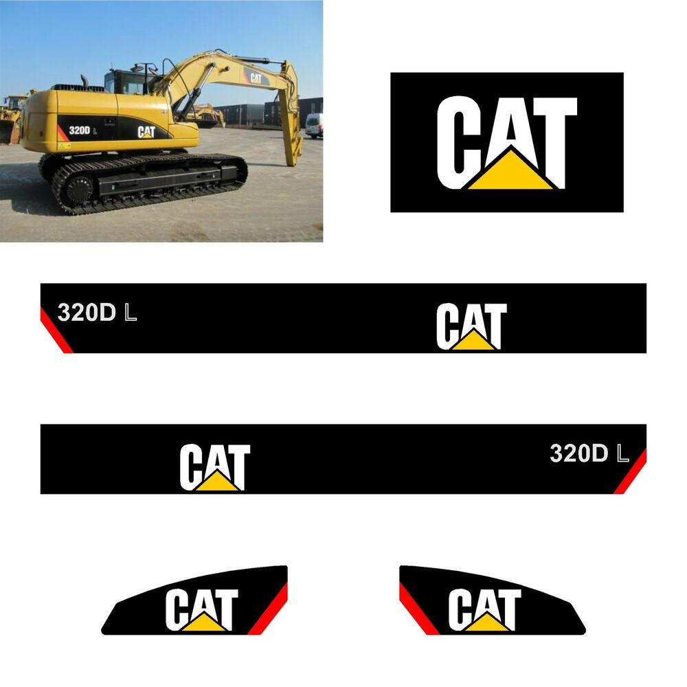 Caterpillar Decal Kits : Kit sticker caterpillar pelleteuse dl ref
