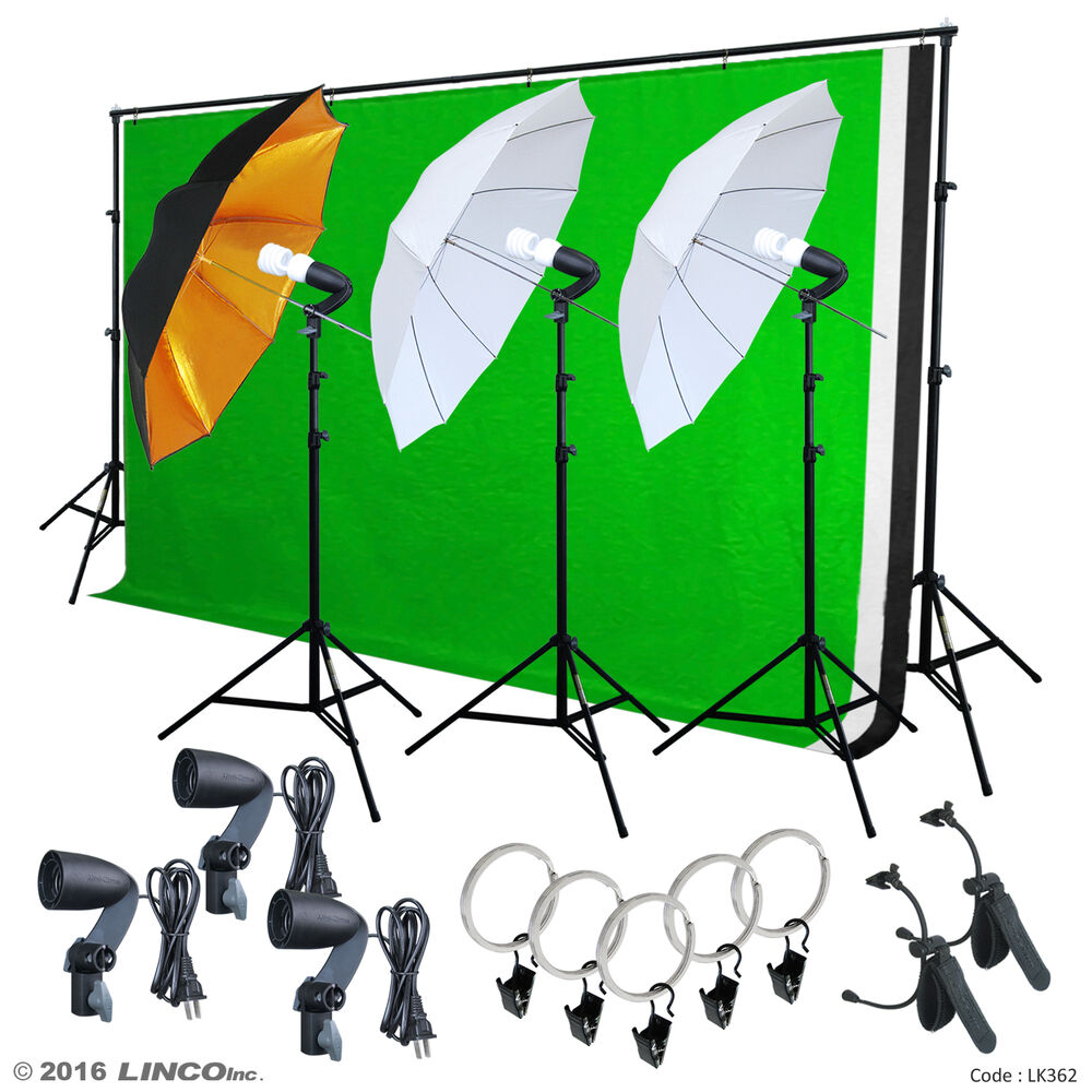 Optex Photo Studio Lighting Kit Review: Photo Video Studio Lighting Photography 3 Backdrops Stand