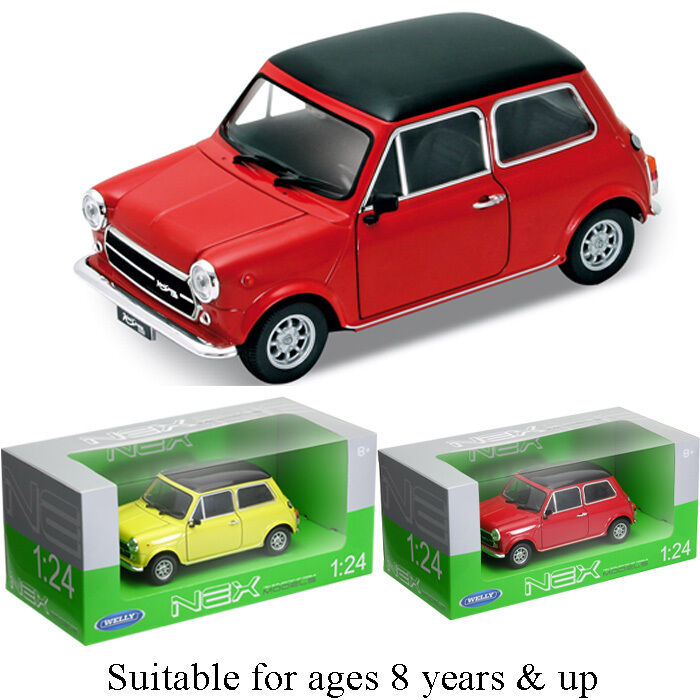 classic mini cooper 1300 1 24 scale model by welly nex series new boxed ebay. Black Bedroom Furniture Sets. Home Design Ideas