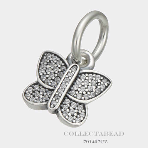 Pandora Butterfly Earrings: Authentic Pandora Sterling Silver Sparkling Butterfly CZ
