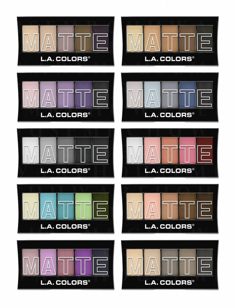 Eyeshadow Palette: LA L.A. COLORS MATTE Eyeshadow Palettes