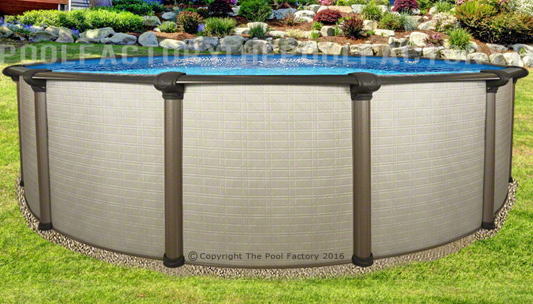 18x54 Melenia Round Above Ground Swimming Pool With 25 Gauge Liner Ebay
