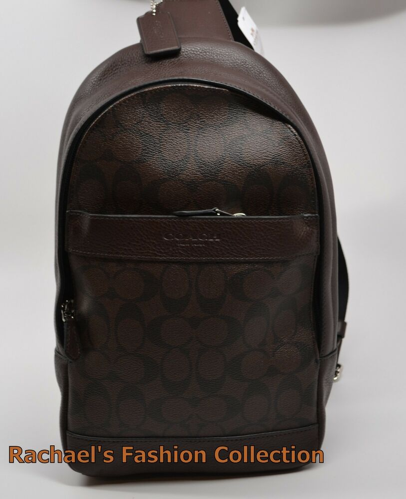 NWT COACH Men's CAMPUS PACK SLING BAG BACKPACK F72043 ...