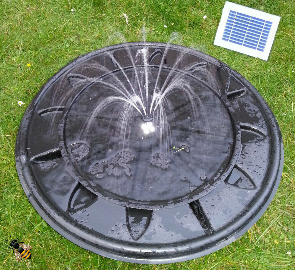 Pebble pool solar or mains fountain garden water feature for Garden pool fountains