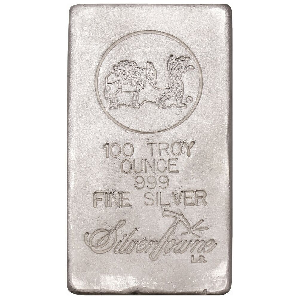 Silvertowne Hand Poured 100oz 999 Fine Silver Bar Martlocal
