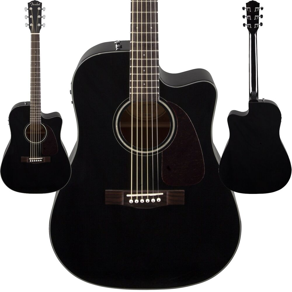 fender cd 140sce acoustic electric guitar black finish dreadnought cutaway new ebay. Black Bedroom Furniture Sets. Home Design Ideas