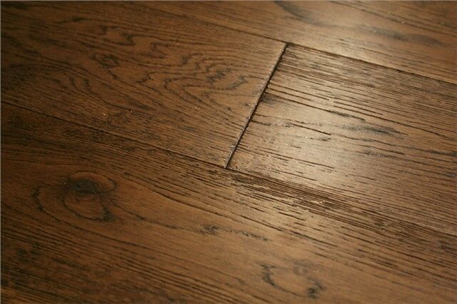 Solid Oak Brushed Caramel Real Wood Wooden Floor Hardwood