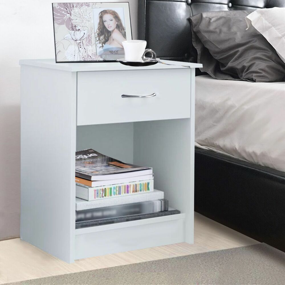 Accent Tables For Bedroom: Night Stand Bedroom End Table Bedside Furniture Drawer