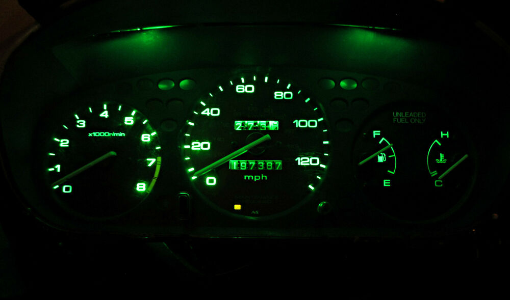 Honda Civic Ex 1996 1999 Green Led Speedometer Gauge