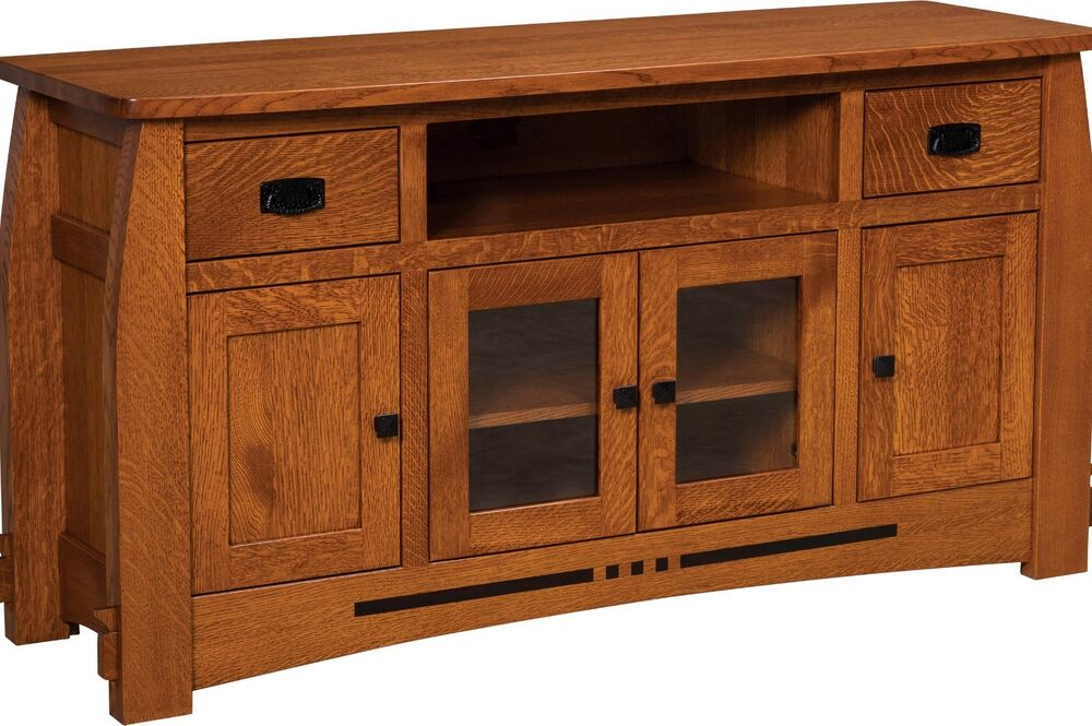 wood cabinet kitchen amish mission colebrook solid wood tv stand console 1128
