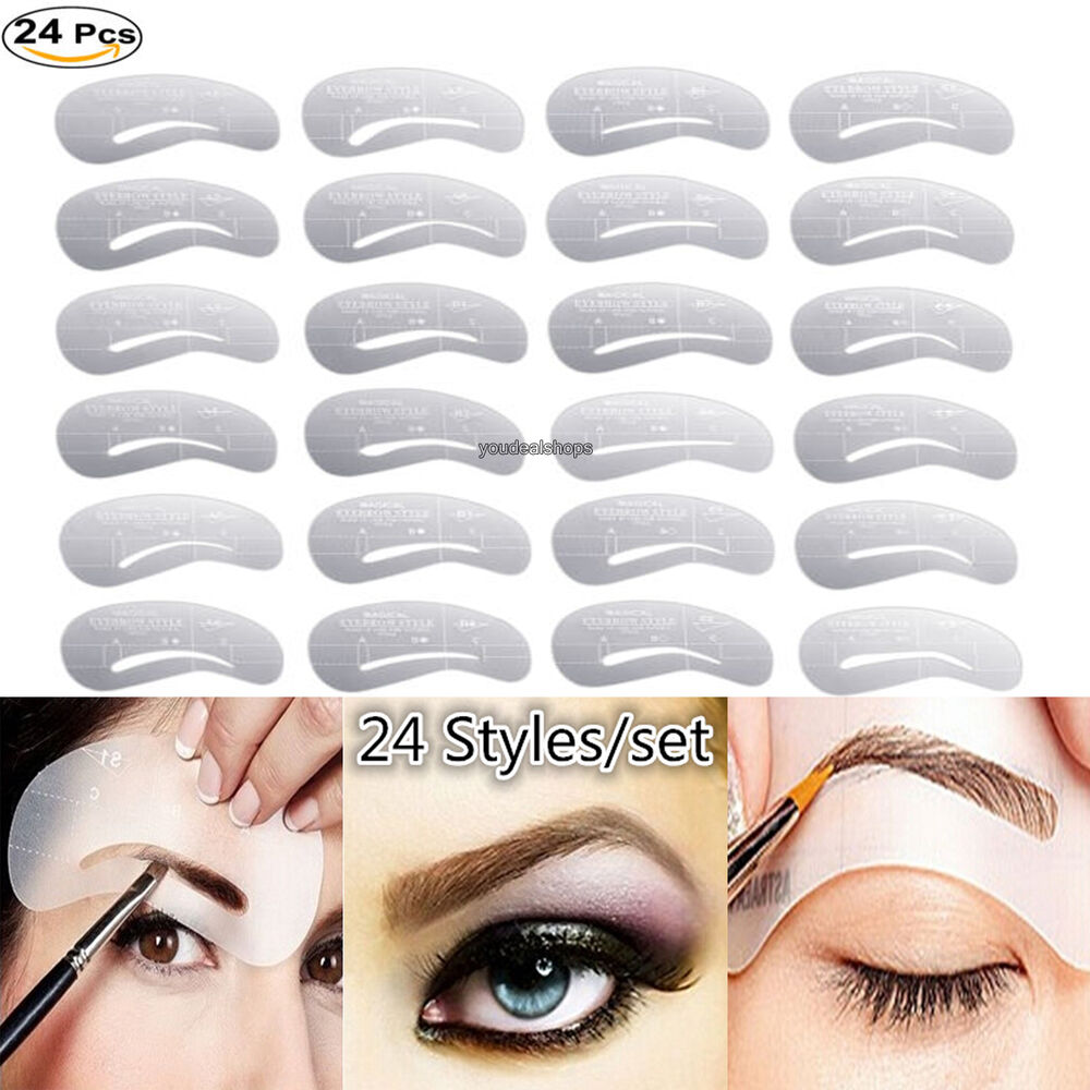 24 foxnovo eyebrow stencils eye brow grooming shaping for Eyebrow templates printable