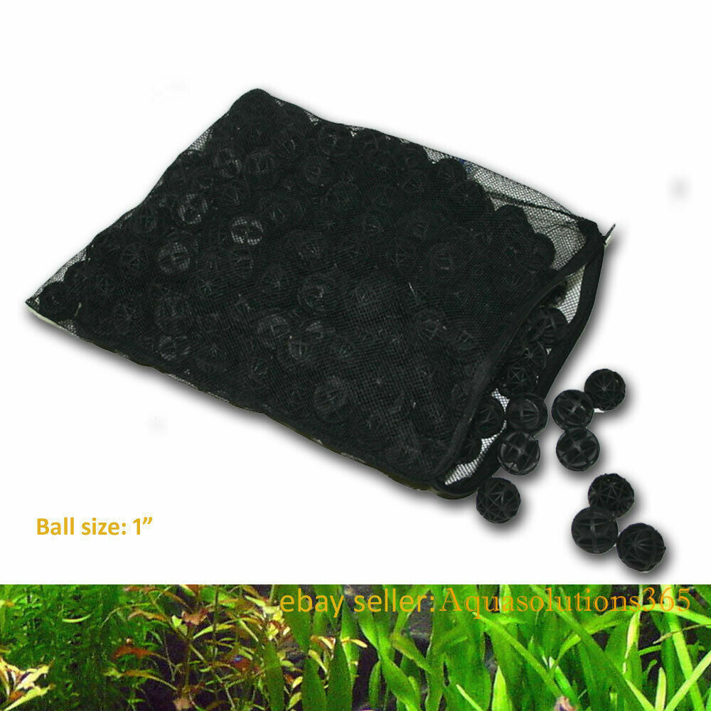 300 1 bio balls w sponge filter media 4 aquarium for Carpe koi aquarium 300 litres