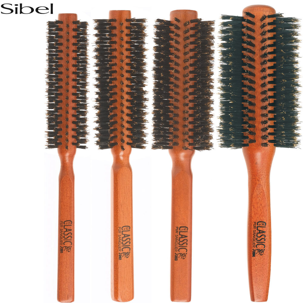 Sibel Wooden Classic Round Radial Hair Brush 100 Boar
