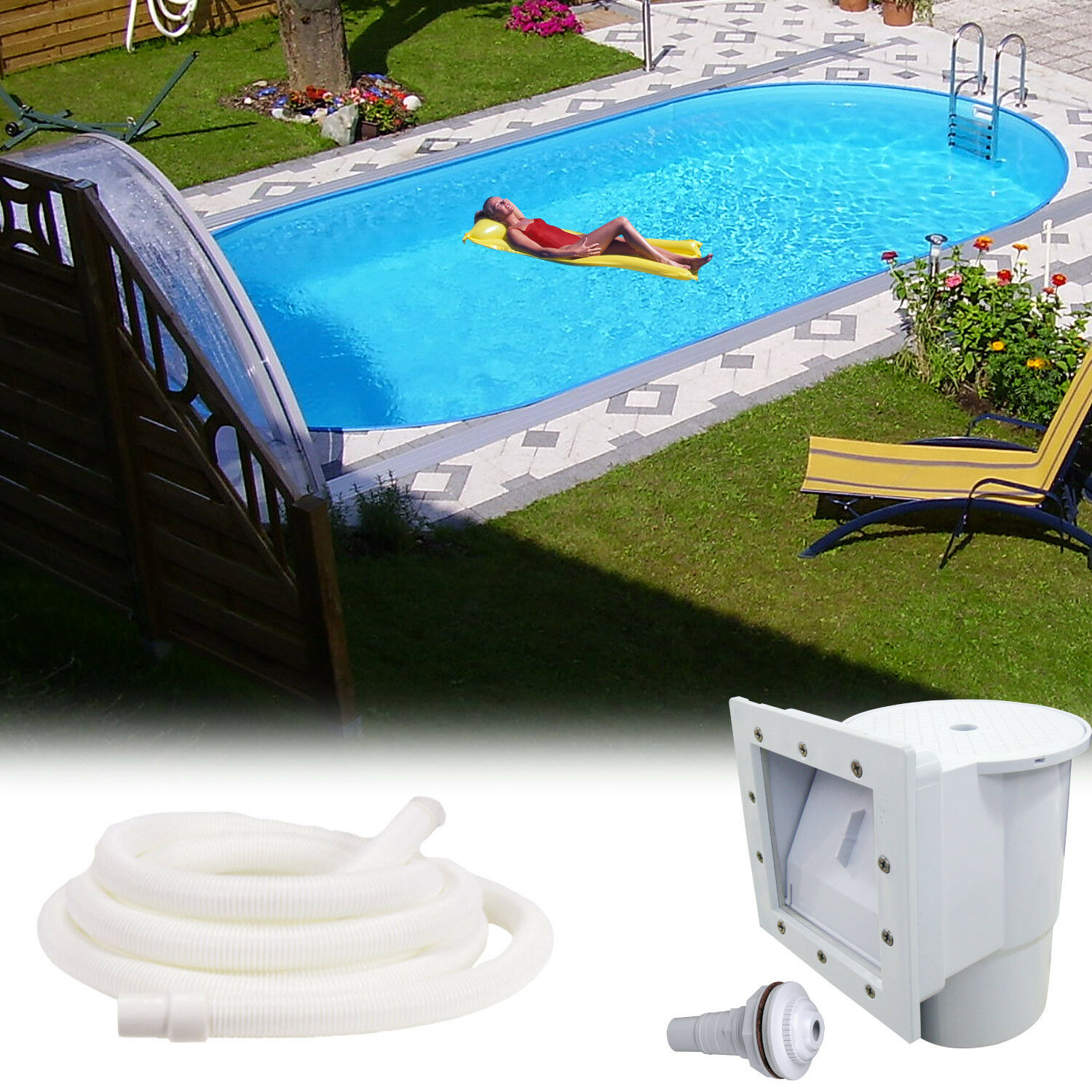 Exceptional Stahlwandpool 800x400x150 Schwimmbecken Swimming Pool Schwimmbad Metal  Stahlwand