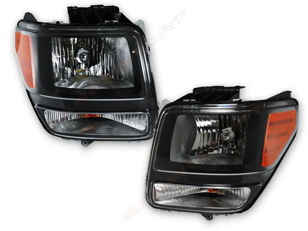 Pair Black Housing OE Replacement Headlights For 2007-2012