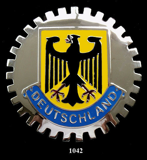 german grille badges deutschland eagle ebay. Black Bedroom Furniture Sets. Home Design Ideas