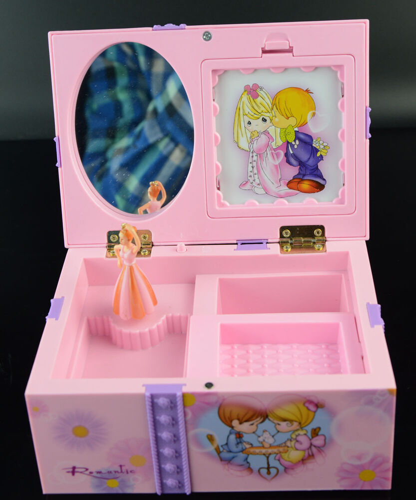 Girl music box childrens musical jewellery box rectangle for Girls large jewelry box
