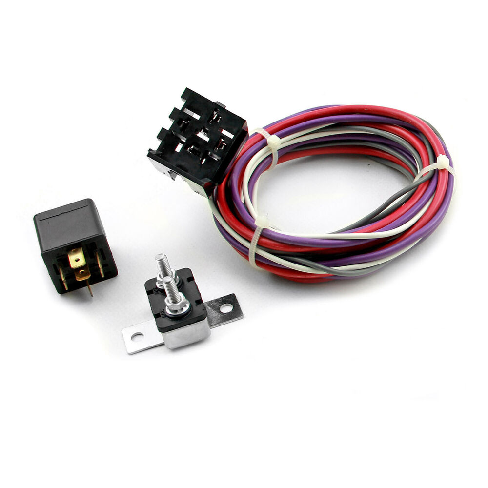 Electric Fan Wiring Harness Kit W Relay Ebay