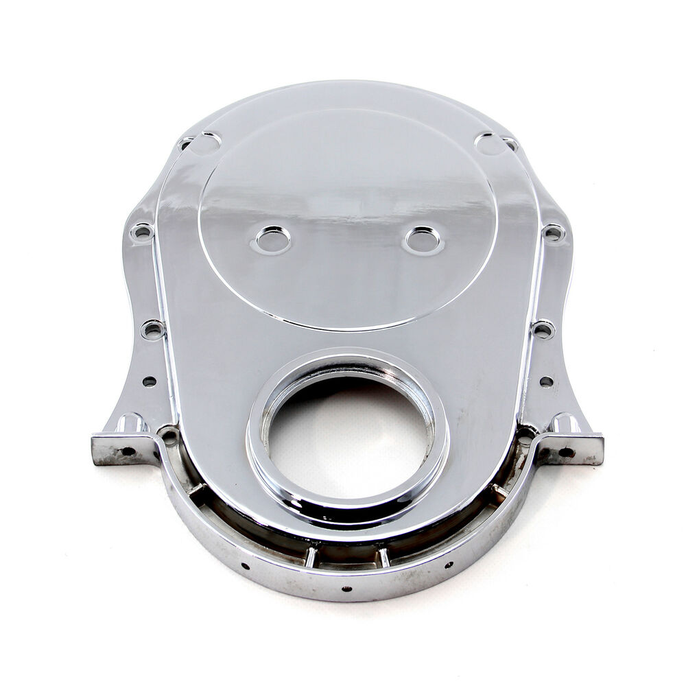 Chevrolet Performance 12562818 Timing Chain Cover: Chevy BBC 454 Gen 1-4 Aluminum Timing Chain Cover Chrome