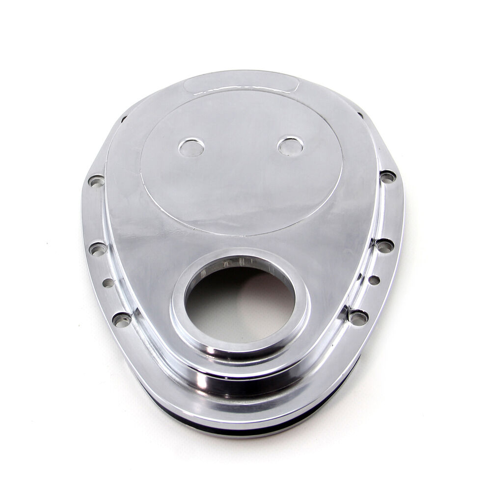 Chevrolet Performance 12562818 Timing Chain Cover: Chevy SBC 350 Aluminum Timing Chain Cover Polished