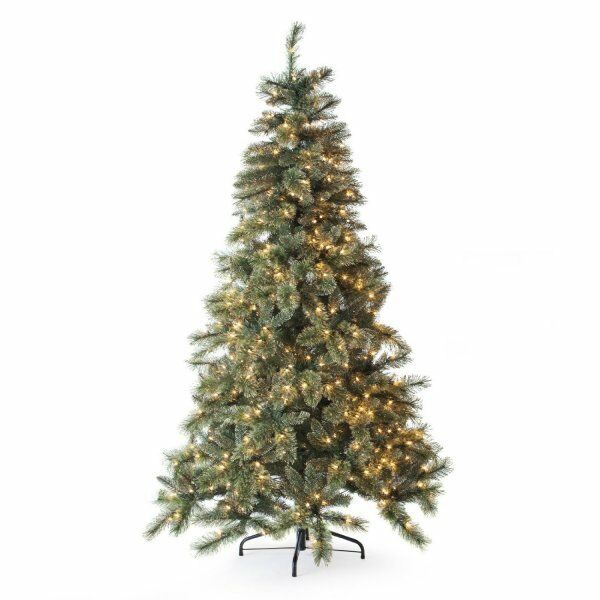 New Sterling Tree Co. 7.5' Gold Glitter Cashmere Pine ...
