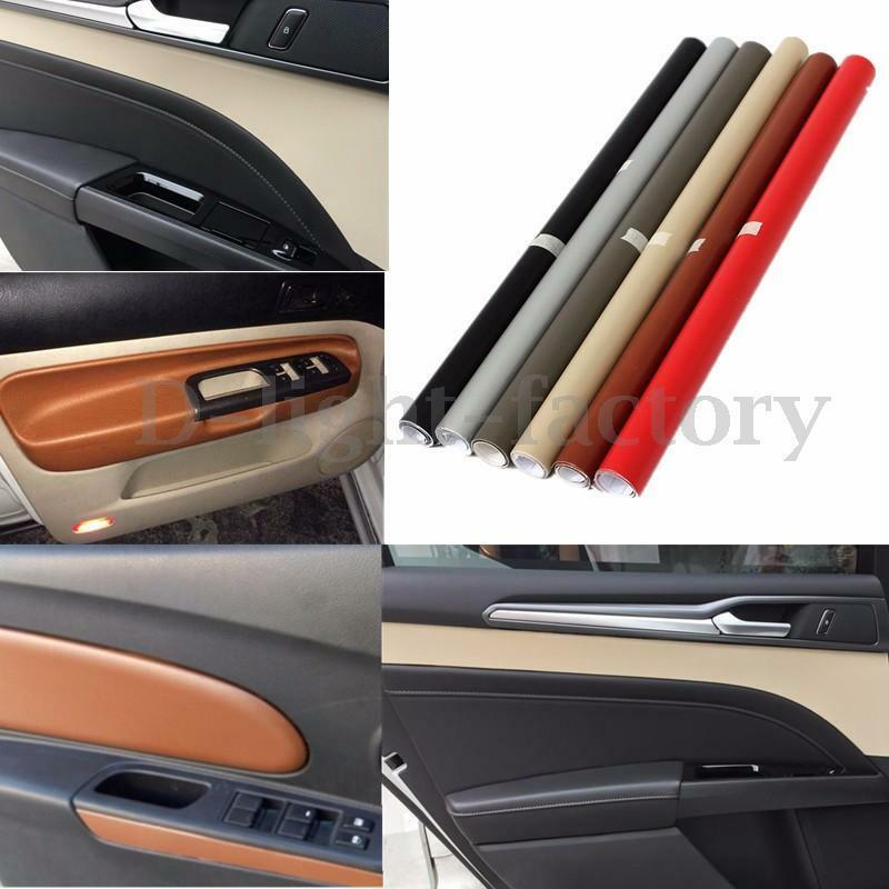 Auto car interior sticker diy leather texture dashboard trim wrap sheet film hot ebay for Vinyl wrapping interior trim