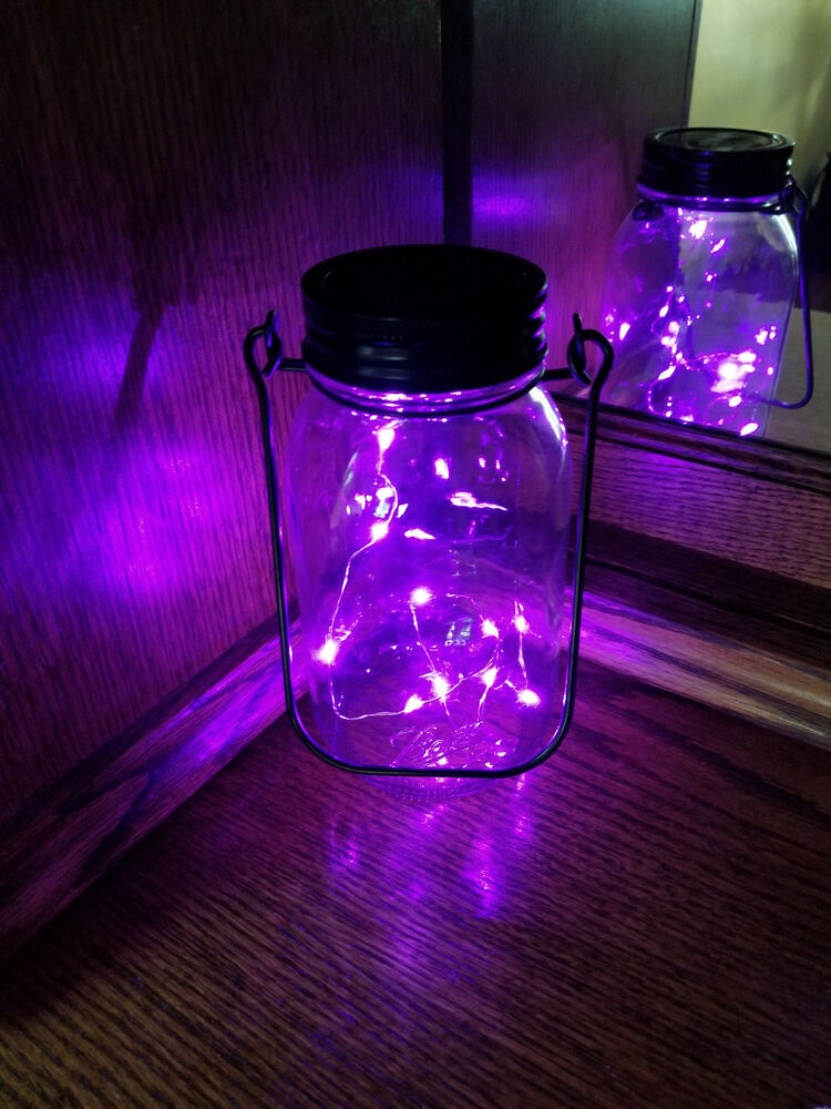 1 Pack Solar Mason Jar Lid 10 Led Mason Jar Fairy Light