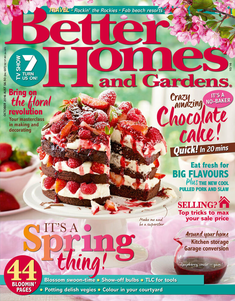 Better homes and gardens magazine october 2016 spring Better homes and gardens current issue