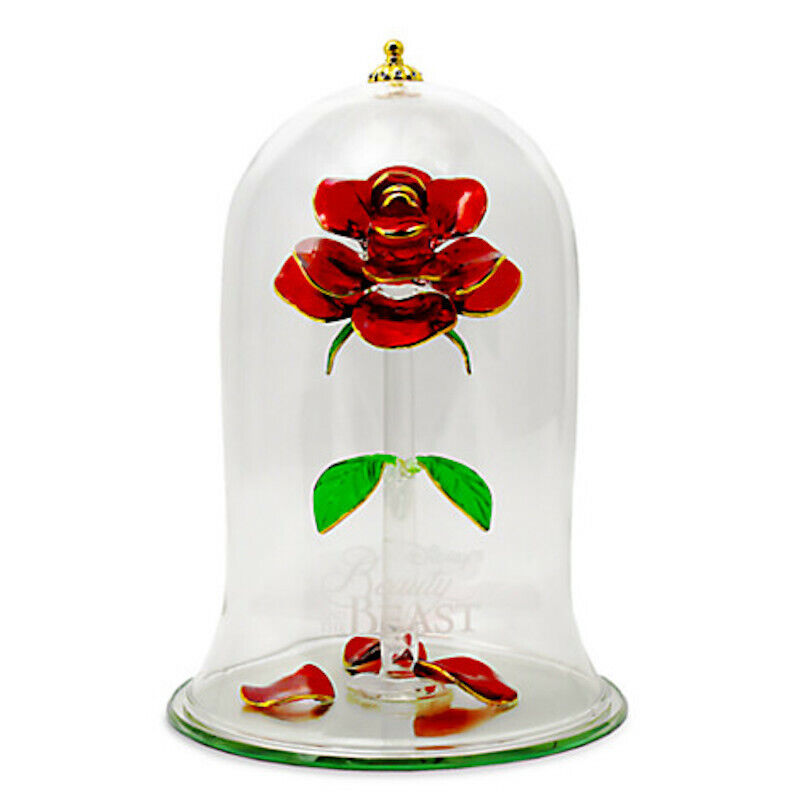 Disney Beauty And The Beast Enchanted Rose Glass Sculpture