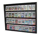 36 Graded Sport Baseball Football Basketball Card display Case Frame, CC02-BLA