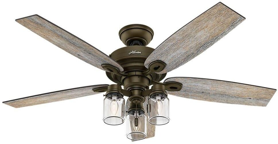 52 indoor rustic farmhouse industrial bronze ceiling fan