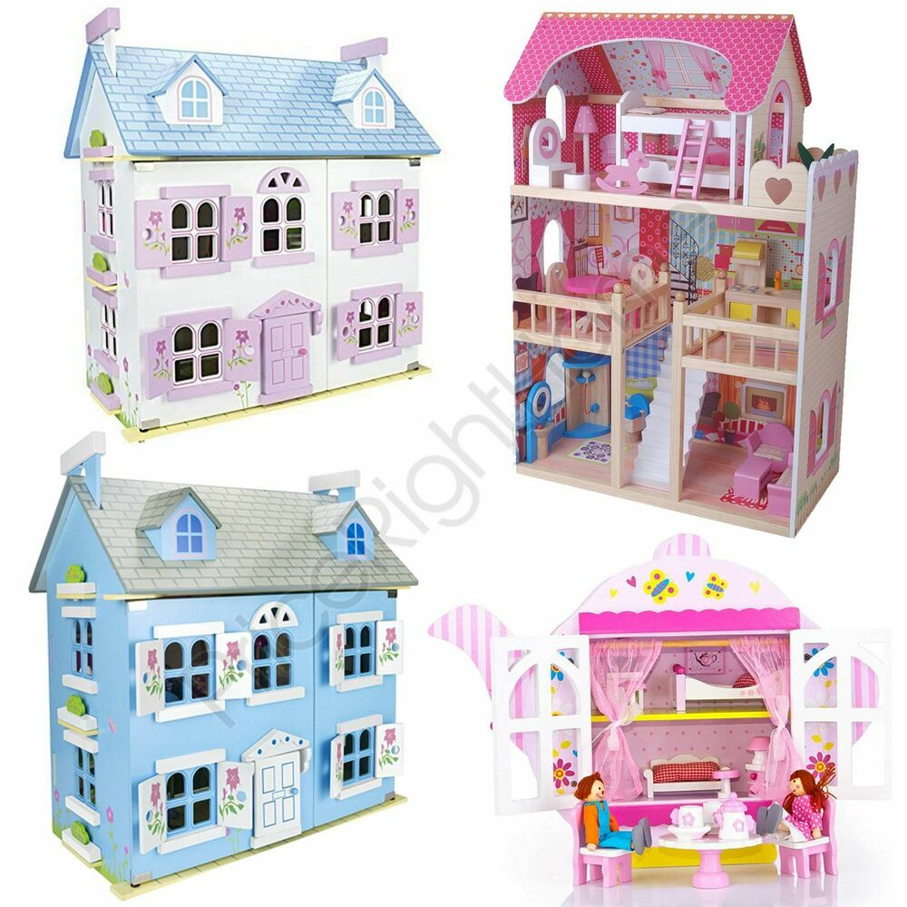 leomarks kids doll house with furniture play house girls