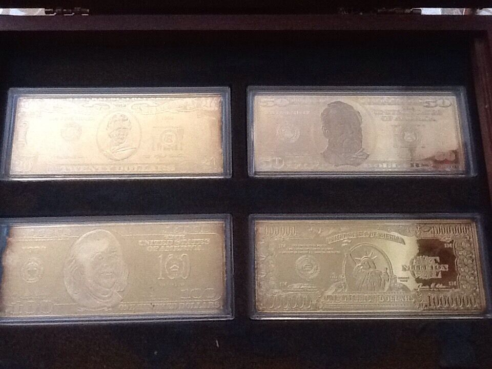 Washington Mint 1998 And 1999 Eight 4oz Silver Notes Set